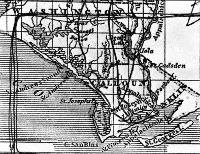 Old Calhoun County Map